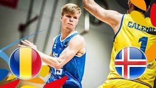 Romania v Iceland - Full Game - Class. Game 15-16 - FIBA U20 European Championship 2018