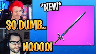 """Streamers React to *NEW* """"Medieval Sword"""" Melee Weapon! (LEAK) - Fortnite Best and Funny Moments"""