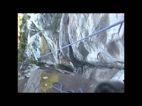 Escalada da via Ilusão de Ótica 7A/A3+ - Malakof