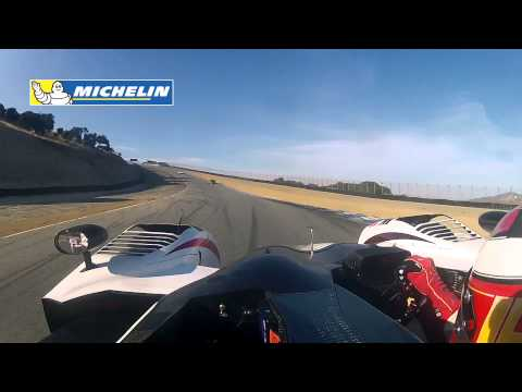 Muscle Milk Racing driver Lucas Luhr takes us for a lap of Mazda Raceway Laguna Seca aboard his Honda Performance Development prototype