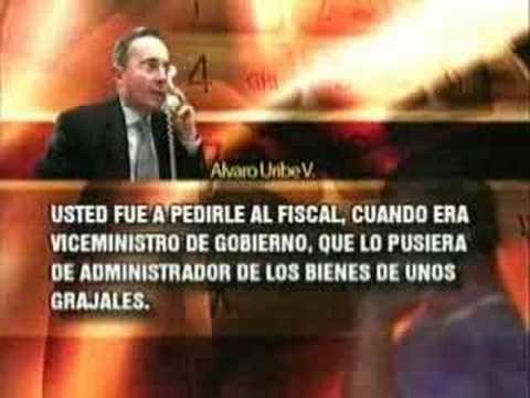 Álvaro Uribe hablando como un sicario