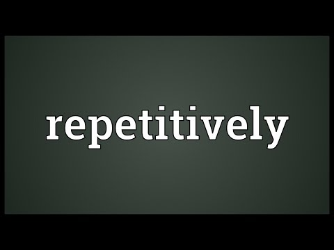 Header of repetitively