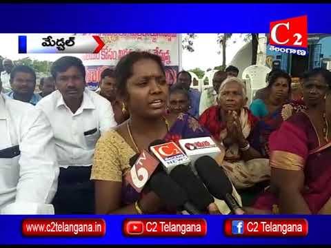 మేడ్చల్ జిల్లా : మల్లన్న ఆలయం కూల్చివేసే ప్రయత్నం చేసిన వెంచర్ సిబ్బంది | 01-08-2018