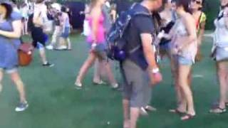 Don't wear sandals at a music festival while drinking
