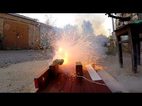 Твердотопливный ракетный двигатель - испытания в гаражных условиях