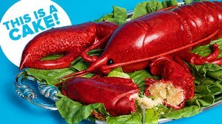 Giant 10 Pound Red LOBSTER... Cake! | How To Cake It with Yolanda Gampp