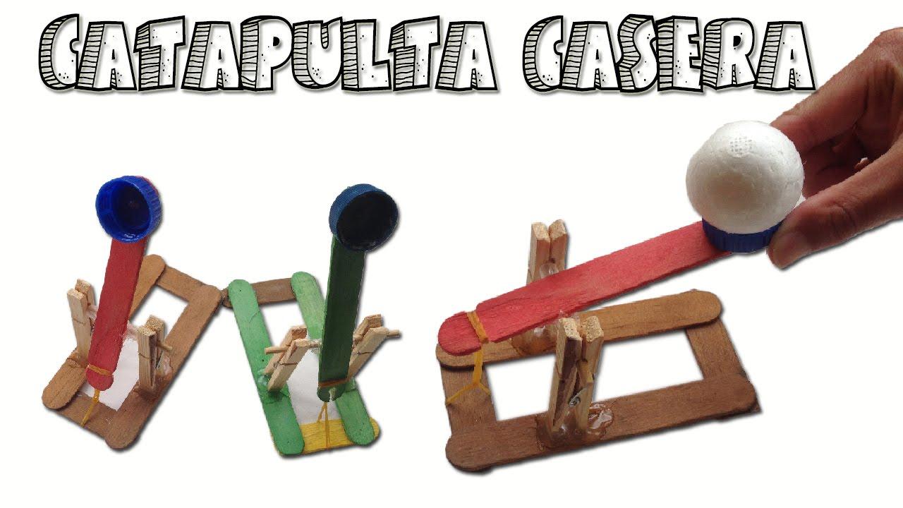 Como hacer una mini catapulta casera muy f cil de hacer - Como hacer una cachimba casera facil ...