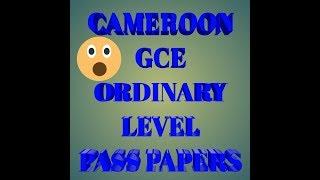 O-Level Economics GCE Cameroon pass questions
