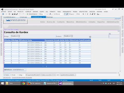 146 - Aplicación Comercial: Consulta de Kardex