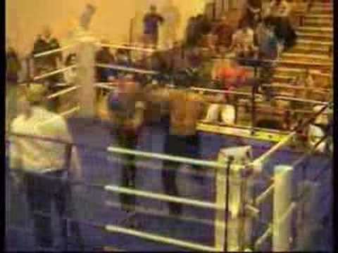 Ehsan Shafiq fights with Kick boxer  England (2005)