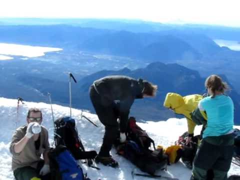 Villarrica Volcano hike and summit, Pucon, Chile. 13th May 2011
