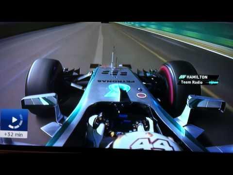 Team radio Lewis Hamilton SINGAPORE GP 2014