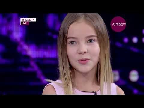 Данэлия Тулешова - победитель шоу Голос. Дiти в программе Телебашня (23.12.17)