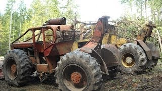 Timberjack 404 amp tree farmer c7 log skiddders