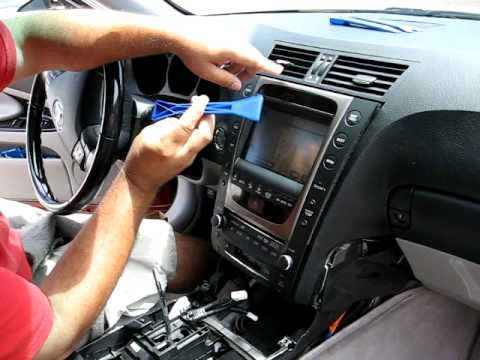 How to Remove Radio / CD Changer / Navigation from 2006 Lexus GS430 for Repair.