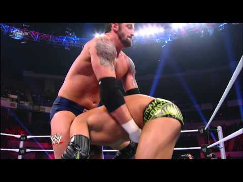 Wade Barrett competes in a Gauntet Match: WWE Main Event, Jan. 2, 2012