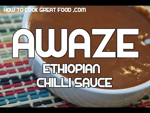 Ethiopian Awaze Recipe - Amharic Hot Chili Sauce Video