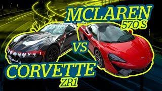 ZR1 destruye McLaren 570 s. ¡¡NOS AGARRA LA POLICÍA Y LE OFRECEMOS SUBIRSE AL CORVETTE!!