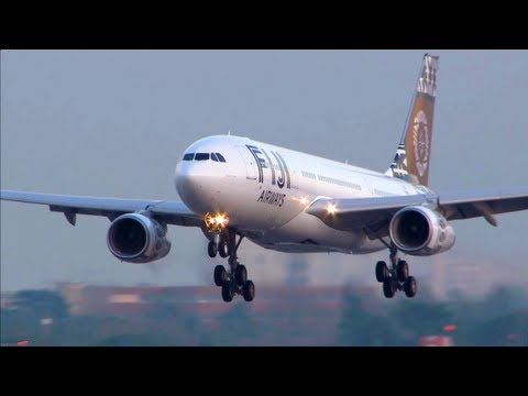 ✈ Airbus A330-200 Fiji Airways - Close-Up, Take-Off, Landing