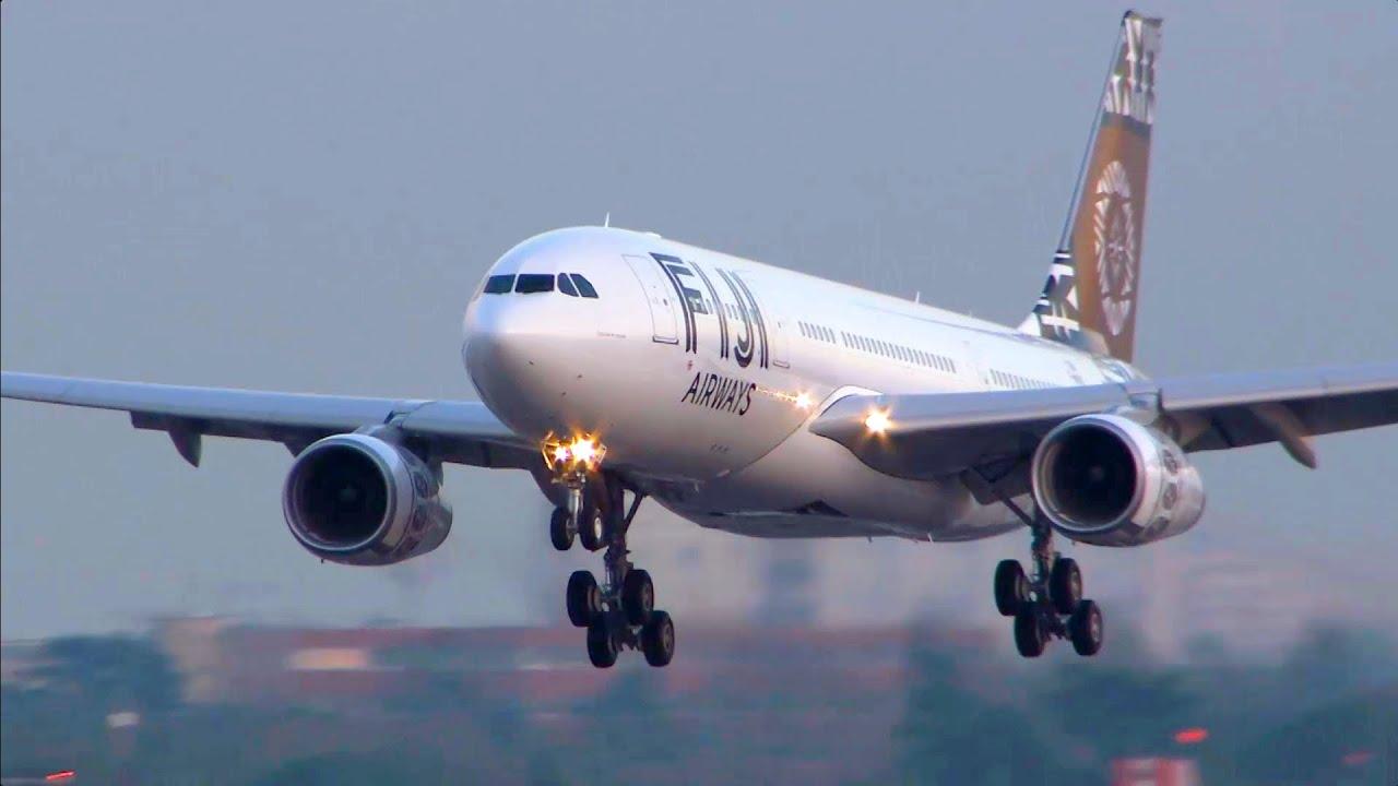 Airbus A330 200 Fiji Airways Close Up Take Off Landing