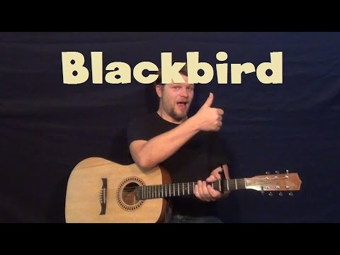Blackbird (The Beatles)  Guitar Lesson Easy Fingerstyle How To Play Tutorial With TAB