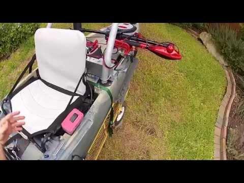 Kayak trolling motor mount pivoting ibowbow for Cabela s advanced angler 120 trolling motor