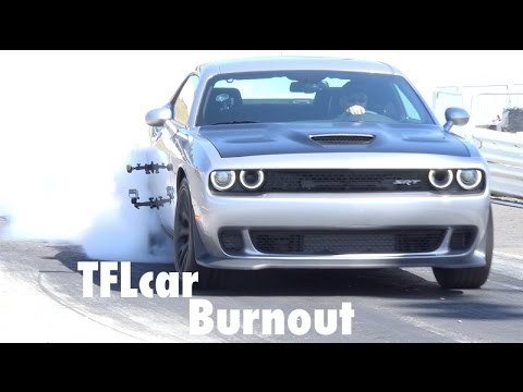 2015 Dodge Challenger Hellcat Epic Tire-Shredding  Burnout