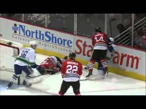 NHL: Raffi Torres Hit on Brent Seabrook Game 3 4/17/11