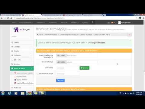 Hostinger - Parte 2 (Creación de una base de datos)