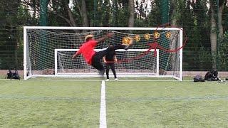 PAUL POGBA FOOTBALL SHOOTING CHALLENGE w/ EX PROFESSIONAL FOOTBALL PLAYER