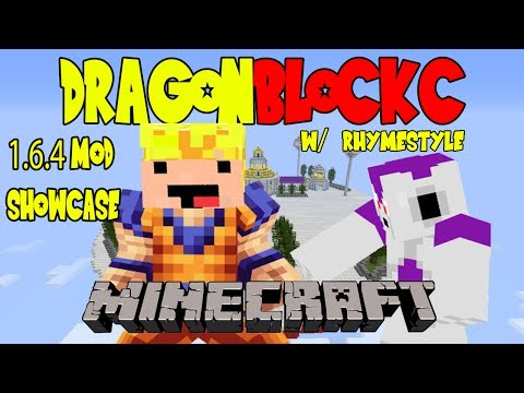 Dragon Block C 1.6.4 Showcase - How to play as Frieza. Create Attacks. & more (DBZ Minecraft)