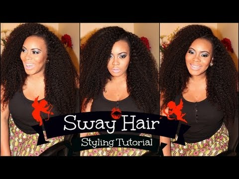 NO - Part Sew In Styling Tutorial with Sway Hair  - KINKY TEXTURE