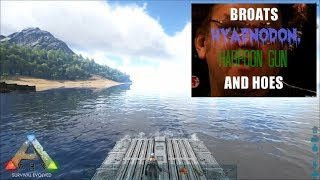 Ark Survival Evolved - TAMING HYAENODON, HARPOONS, AND MOTOR BROATS!! Part 1 of 2