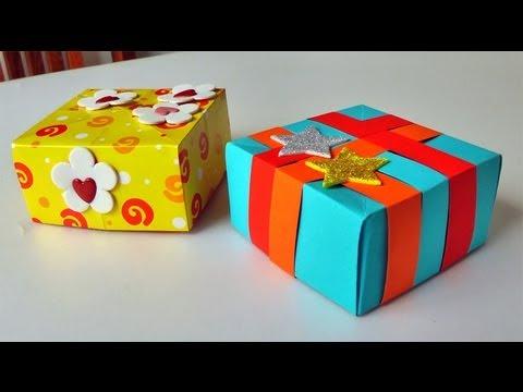 Caja para regalo manualidades para regalar gift box - La cajita manualidades ...