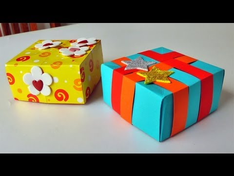 Caja para regalo manualidades para regalar gift box - Manualidades para regalar en reyes ...