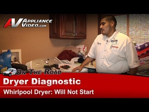 Whirlpool & Maytag Dryer Diagnostic - Will Not Start - Fuse. Heater & Relay test WED6200SW1