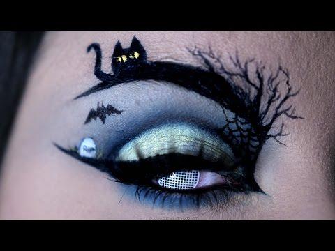 HAPPY HALLOWEEN   Halloween Eye Art Makeup Tutorial   RawBeautyKristi