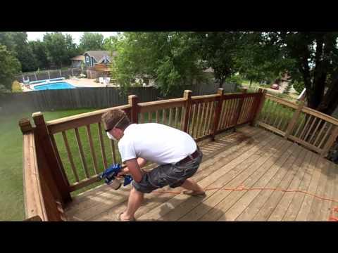 Staining a Deck - Roll vs Brush vs Spray