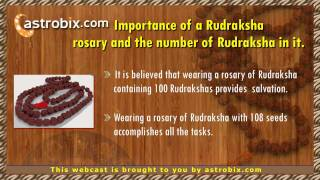 Rudraksha - The importance of wearing a Rudraksha, and method of wearing it