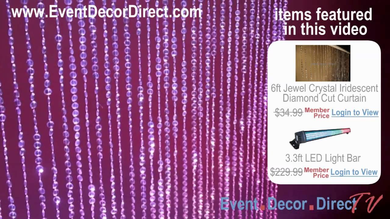 Event decor direct tv popular diamond cut irdidescent for Decor direct