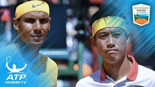 Nadal beats Nishikori to win 11th Monte-Carlo title | Monte-Carlo 2018 Final Highlights