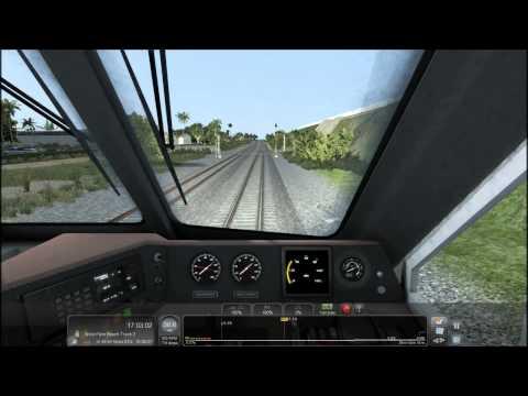TS2015 HD: Pacific Surfliner EMD F59PHI Train Set Tri-Rail Express Service (Miami - West Palm Beach)