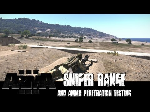 ArmA 3 Sniper Rifle Range and Penetration Test