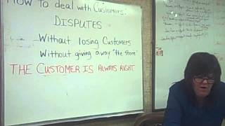 2014.10.10 How to Deal with Customers: Disputes