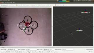 Tag detection with ar-track-alvar and dqrobotics - Drone test