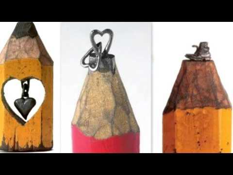Креативные карандаши! резьба по грифелю