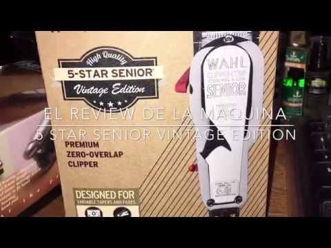 WAHL 5 STAR SENIOR VINTAGE/ Jeff The Master Barber Review Español