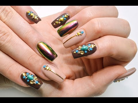 Chrome Bling Nails: How to Apply Rhinestones