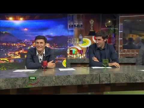 Rául Gónzalez y Javier Zanetti en La Jugada