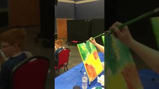 How to Create an Acrylic Painting (Texas) by Painting Circle, (March, 30, 2019)